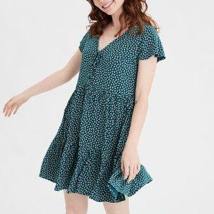 AE Printed Teared Babydoll Dress